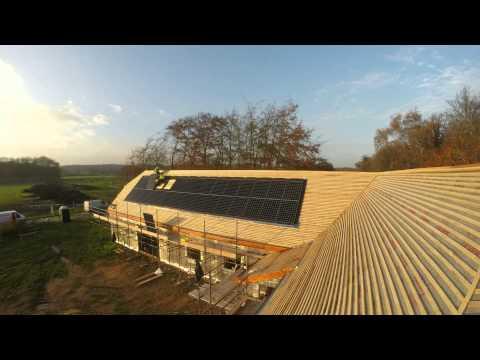 Roof integrated SunPower installation