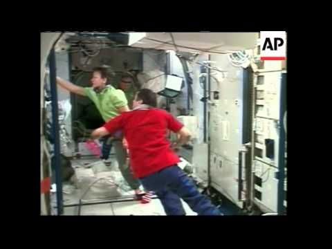 Astronauts move into space station's  latest expansion