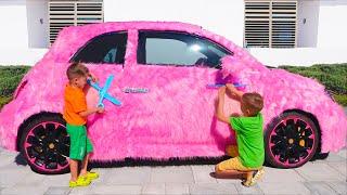Vlad ve Nikita Arabalarla Komik Hikayeler - Çocuklar için koleksiyon videoları