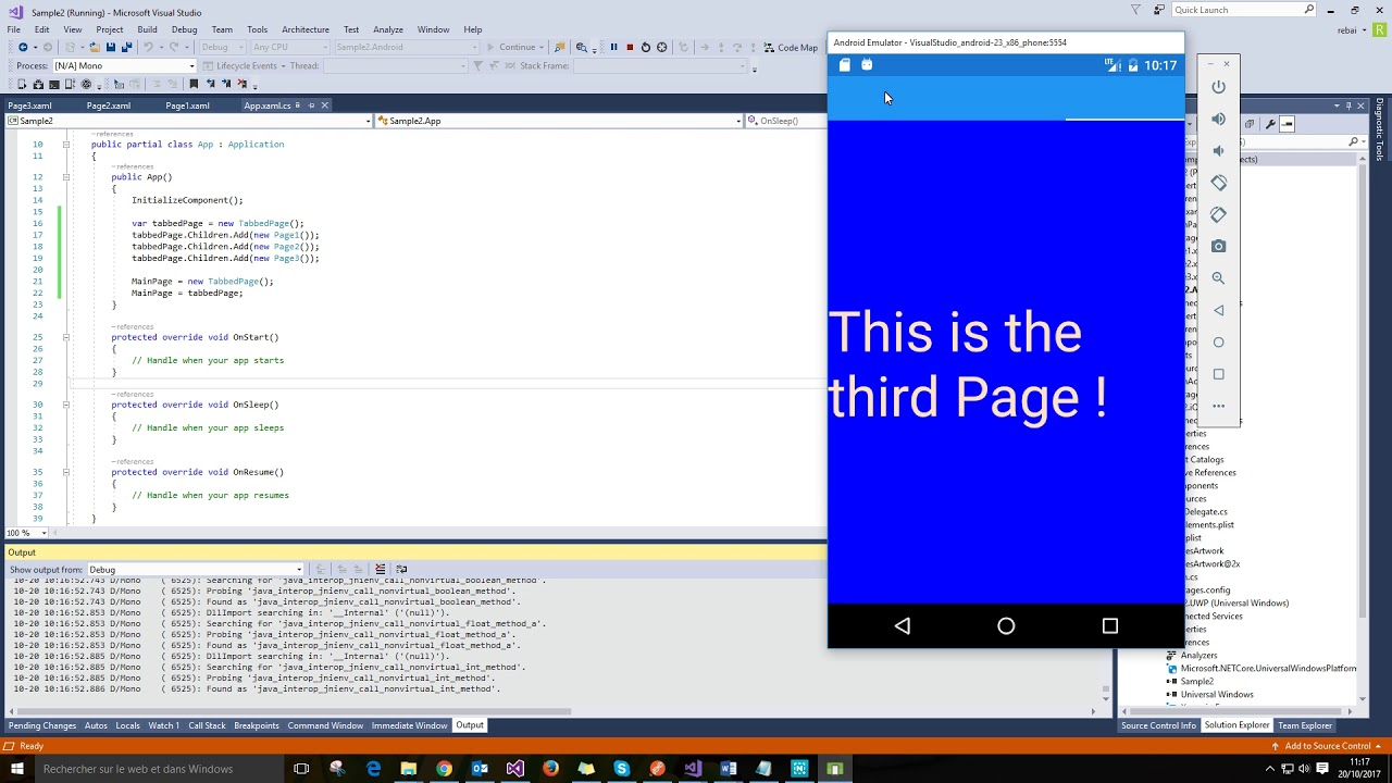 TabbedPage in Xamarin Forms