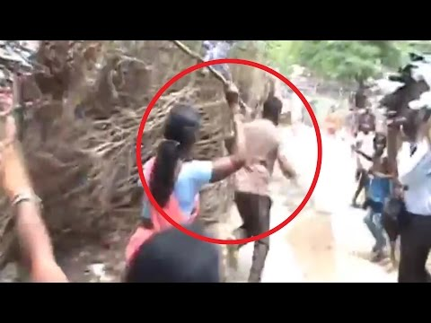 Women Beat Illegal Liquor Seller In Jharkhand Video Goes Viral