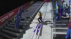 Deutschland Skispringen Teamwettkampf - Olympia Sotschi - 17.02.14 - Highlights 2. Durchgang