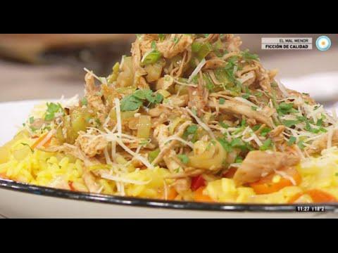 sobras de arroz con pollo