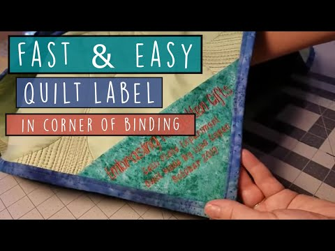 Quilt Label Idea - Fast And EASY - Triangle Quilt Label Sewn Into Binding