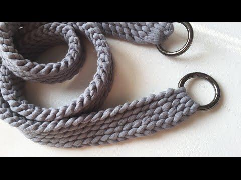 Как крючком связать ремешок для сумки крючком