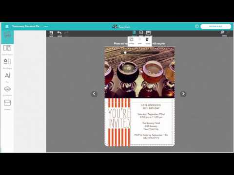 Creating A Photo Card In Snapfish