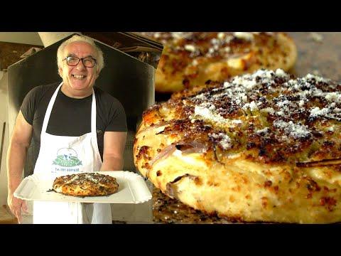 Enjoy Nicola's Sicilian pizza called sfincione di Bagheria!   Pasta Grannies