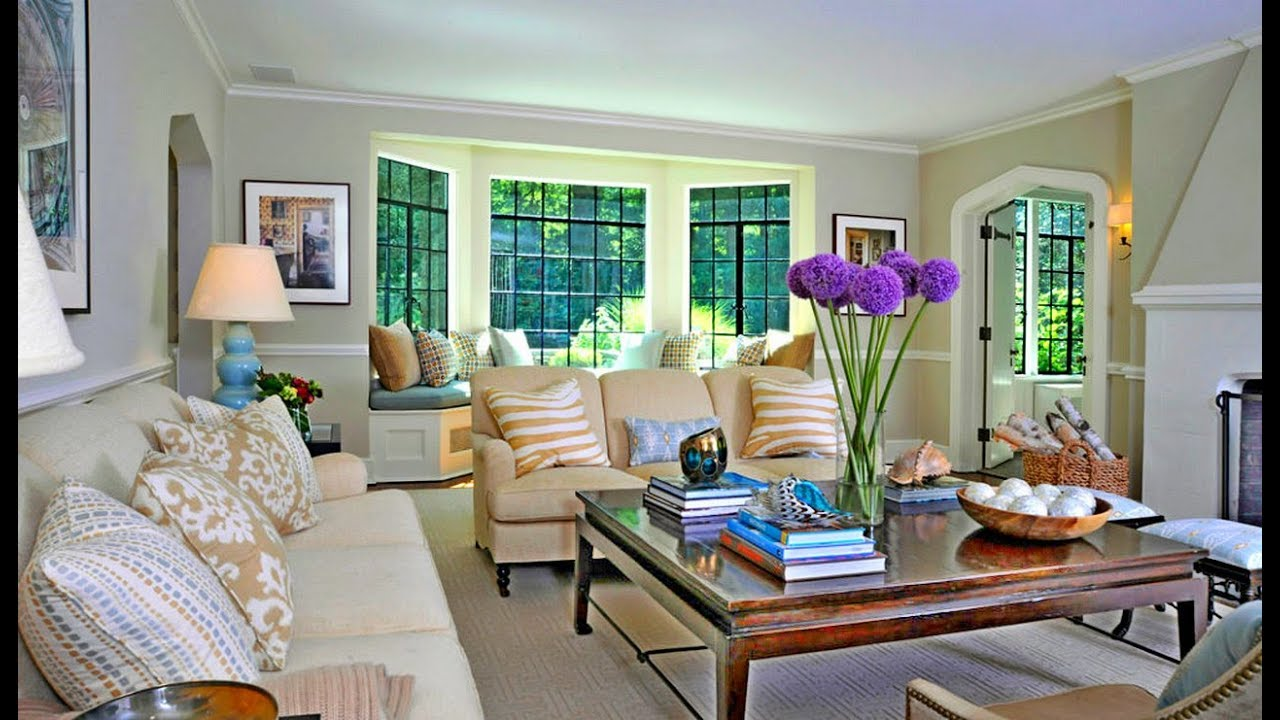 Small living room with bay window decorating ideas youtube - Living room with bay window ...