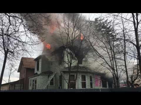 Red Bank NJ fire at 16 Leonard Street.
