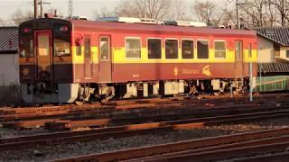 〔4K UHD dc〕わたらせ渓谷鉄道・わたらせ渓谷線:大間々駅、WKT-510形/駅構内回送シーン。