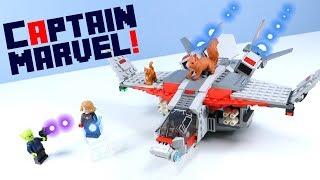 LEGO Captain Marvel Avengers Quinjet Nick Fury & Goose Set Build Review 76127