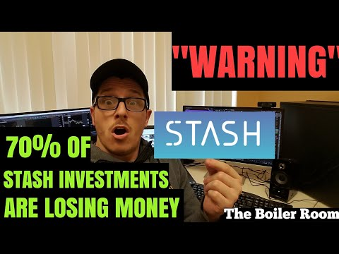 Stash Invest | Warning Investors 71% of Stash Investments Will Lose Money | Stock Market Crash