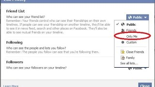 How to Hide Facebook Friend List from Everyone on Mac OS/ PC [2015]