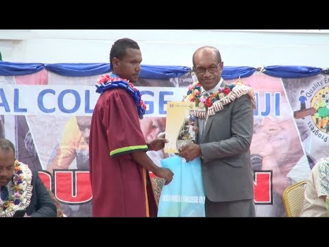 Fijian Minister for Employment officiates at the Technical College of Fiji Graduation