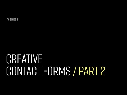 Creative Contact Forms (Part 2)