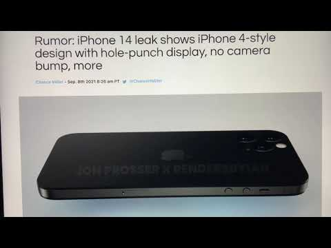 Rumor: iPhone 14 leak shows iPhone 4-style design with hole ...