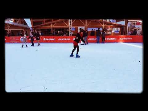 Improvising to skate on Ice 🏂😍