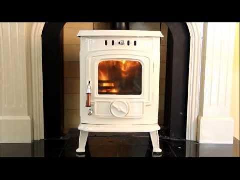 Henley Aran Multifuel Stove In Cream Enamel Youtube