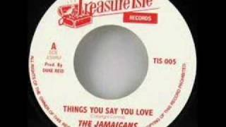 THE JAMAICANS - THINGS YOU SAY YOU LOVE.wmv