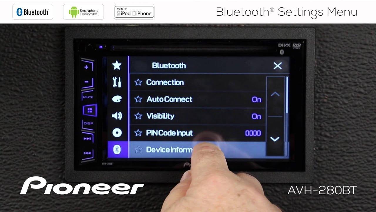 Pioneer Avh Gps Add On Vw Jetta Mk4 Radio Wiring Diagram How To 280bt Bluetooth Settings Menu Youtube