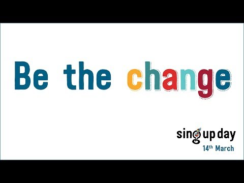 'Be the change' lyric video