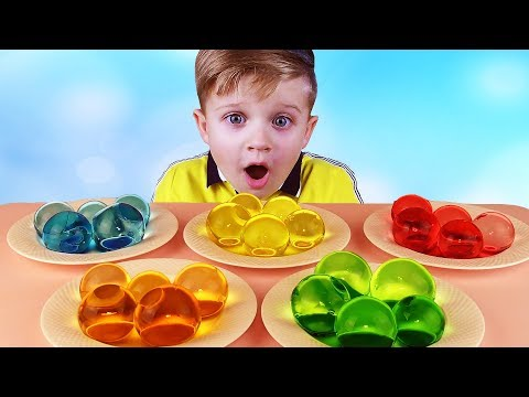 Thumbnail: Learn colors for kids with Giant ORBEEZ balls for children, toddlers, babies