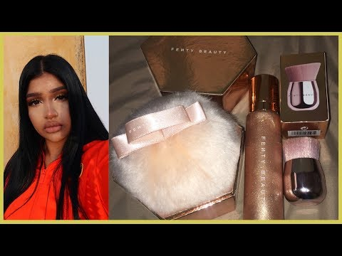 NEW FENTY BEAUTY BODY LAVA & FAIRY BOMB ! SWATCHES + FIRST IMPRESSIONS  |  VLOG