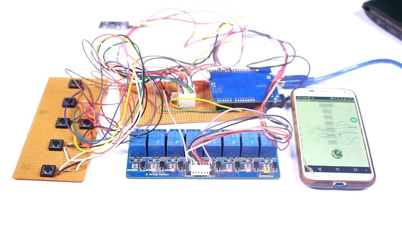 Making of Homemade Automation system and Mobile App: Control Lights With by  phone/ manual switches
