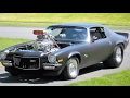 1972 Z-28 Camaro Pro Street w/ 496 stroker motor topped with 8-71 Weiand Supercharger (1st start)