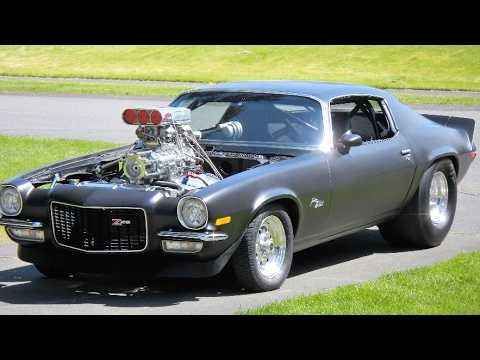 1st start 1972 z 28 camaro w 496 stroker 8 71 weiand supercharger youtube. Black Bedroom Furniture Sets. Home Design Ideas