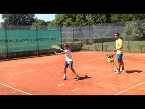 Coaching Tennis Barceloma in Berlin. Player M.S
