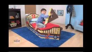 Children's Pirate Toddler Bed for Kids - Toy Review