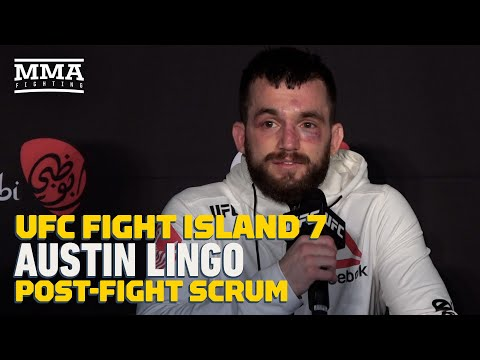 UFC Fight Island 7: Austin Lingo Reacts To Fans In Crowd: 'It's Just Like Old Times' - MMA Fighting