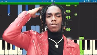 YNW Melly - Butter Pecan - Piano Tutorial