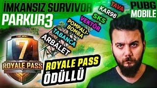 İMKANSIZ SURVİVOR PARKUR! PUBG Mobile Royale Pass UC Ödüllü Survivor Yarışması