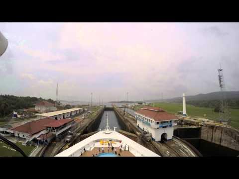 2015 Disney Wonder Panama Canal Time Lapse