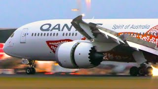 10 AMAZING Early Morning Arrivals   A350 A380 787   Melbourne Airport Plane Spotting