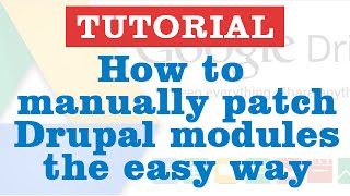 How to manually patch drupal modules the easy way?