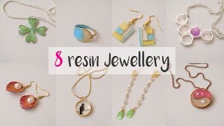 8 IDEAS WITH RESIN⭐. How to use resin to make  jewellery