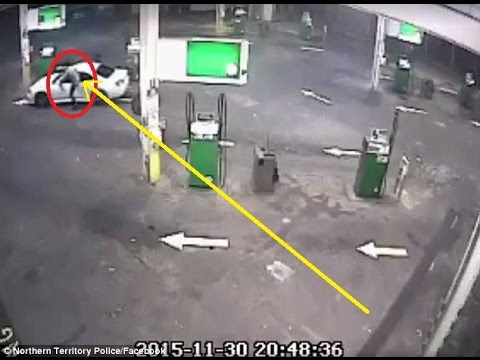 CCTV footage of attempted car theft in Northern Territory