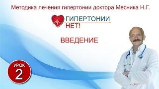 Урок 2. Введение. Гипертонии-НЕТ! Методика лечения гипертонии Месника Н.Г.
