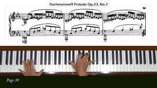 Rachmaninoff Prelude in C Minor Op. 23, No. 7 Piano Tutorial Part  2