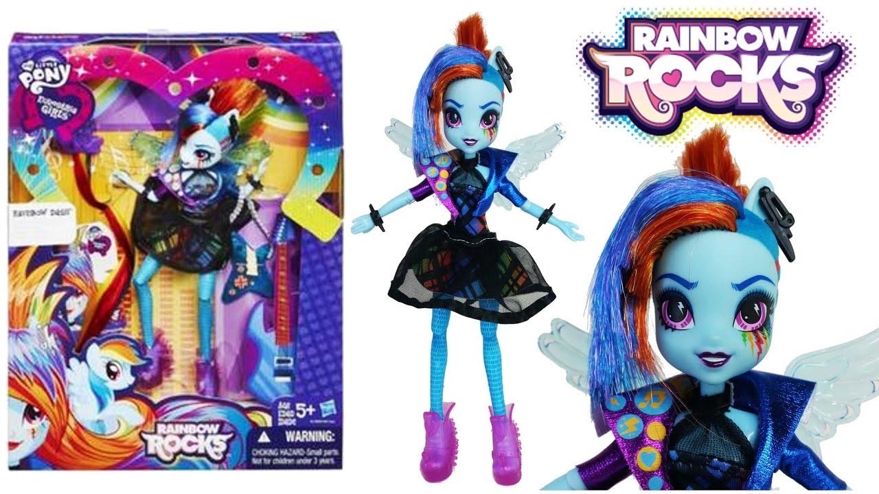 Rainbow Dash Rockin Hairstyle Equestria Girl My Little Pony - Rockin hairstyles dolls