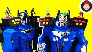 Imaginext Batman DC Super Friends Batbot Extreme Battles Joker Robot and Harley Quinn - Toy Video