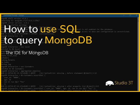 How to Use SQL to Query MongoDB | Studio 3T