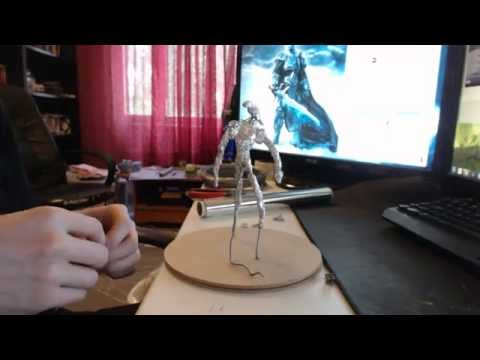 Polymer clay beginner tutorial - Alien Xenomorph part 1 - prepping work for clay