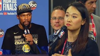 Kevin Durant Being Rude to NBA Reporters