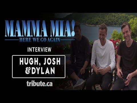 Hugh Skinner, Josh Dylan & Jeremy Irvine -  Talk 'Mamma Mia! Here We Go Again' Interview