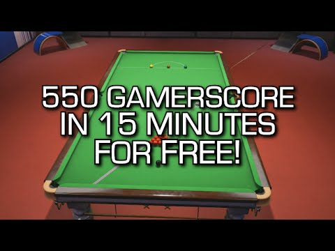 550 GamerScore in 15 MINTUES for FREE! (Snooker Nation Championship 2016)