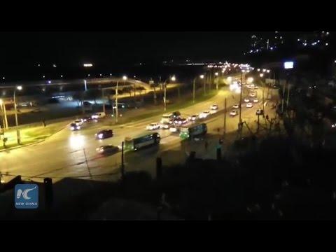 RAW:Evacuation over tsunami warning in Valparaiso of Chile